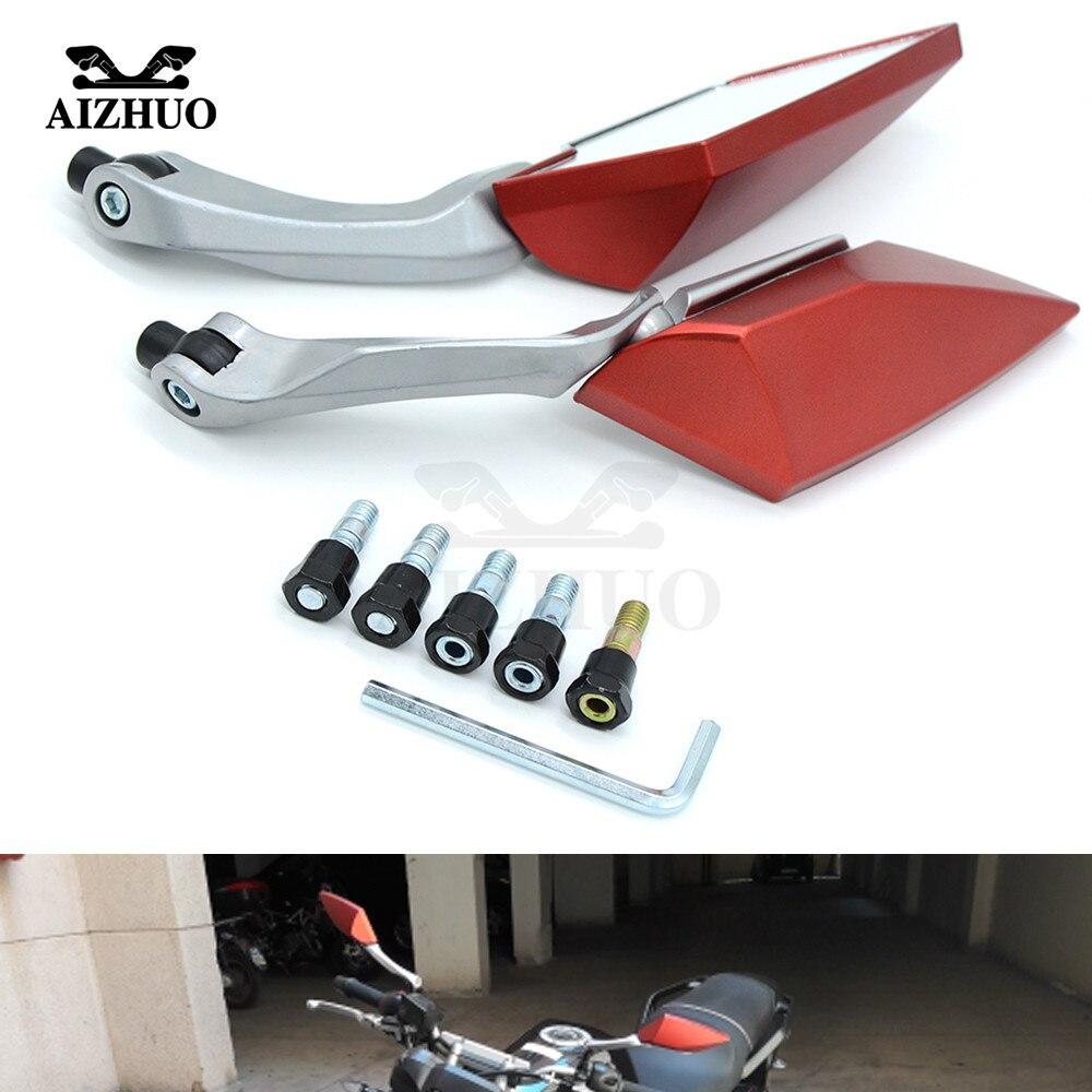 Para Ktm Duque 125, 200, 390, 690 Smc 1290 Rc Honda Kawasaki Yamaha Tmax 530 500 R6 accesorios de la motocicleta espejos retrovisores mm 8mm 10mm