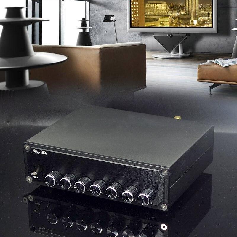 KYYSLB 100 W + 50 W * 2 + 50 W + 50 W * 2 TPA3116 4.2 بلوتوث مكبر للصوت a600 5.1 قناة مكبر للصوت مجلس DC12-25V مع عالية و منخفضة لهجة