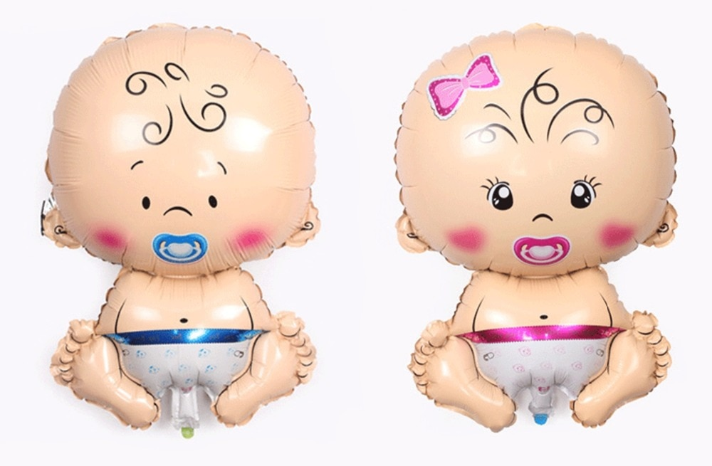 1 Uds., globo de decoración para fiesta de niño y niña, suministro para fiestas de cumpleaños, globo de papel de aluminio para Baby Shower, juguetes de regalo para bebé
