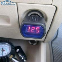 Batterie de véhicule numérique   Mini compteur de tension numérique de voiture, rouge 3 affichage, testeur de voltmètre pour voitures DC 12V 24V, accessoires automobiles