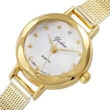 2019 Luxury Brand Ladies Watch Slim Mesh Steel Women Bracelet Quartz Wristwatches White Dial Female Clock Relogio Feminino Gift