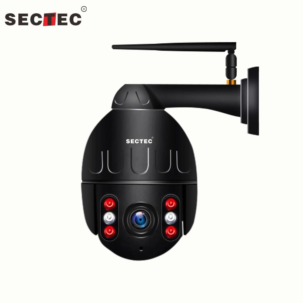 Sectec WiFi 1080 P Draadloze Metalen PTZ Speed Dome Auto tracking Camera Outdoor CCTV Onvif Security Surveillance Camera Waterpro