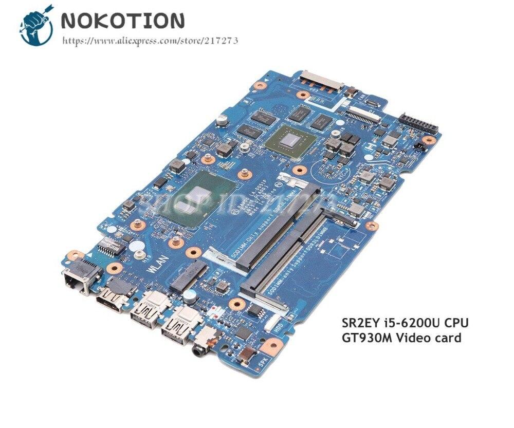NOKOTION para Dell inspiron 15-5557 5457 portátil placa base SR2EY I5-6200U CPU GT930M gpu BAV00 LA-D051P CN-0X9C75 0X9C75