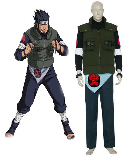 Naruto Sarutobi Asuma Cosplay Costume Tailor Made
