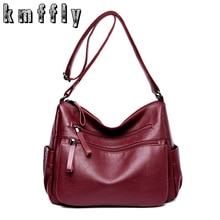 KMFFLY 2018 Women Bag Fashion Sheepskin Leather Designer Handbags High Quality Ladies Bags Famous Shoulder Bag Double zipper Sac