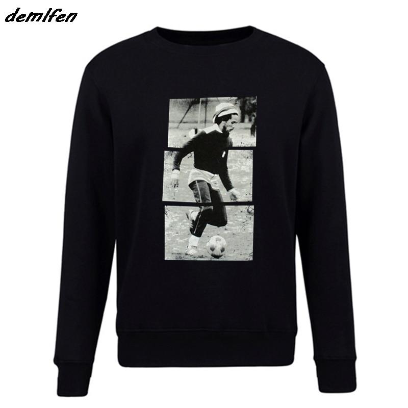 Bob Marley Soccerer rayas imagen negro sudadera tres pajaritos Exodus Jammin hombres hoodie pullover Fleece Top Coat