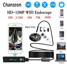 Chanseon 와이파이 내시경 카메라 아이폰 hd 8mm 안드로이드 ios borescope 방수 하드 튜브 검사 미니 내시경 카메라