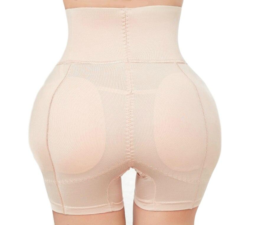 Grande bunda levantador bunda roupa interior acolchoado shaper booty feminino inserções removíveis de cintura alta calcinha controle prayger