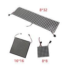 6*6 16*16 8*32 Pixel 36 pixels 256 Pixels WS2812B panneau de LED Flexible numérique individuellement adressable couleur de rêve DC5V
