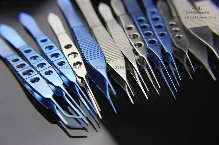 Pinzas de plástico de belleza médica acero inoxidable y aleación de titanio pinzas de Oftalmología microfórceps