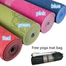 Tapis de Yoga anti-dérapant TPE tapis de Fitness 6mm pour Fitness Yoga tapis de Sport gymnastique tapis minceur tapis de équilibre Pilates Yogamat
