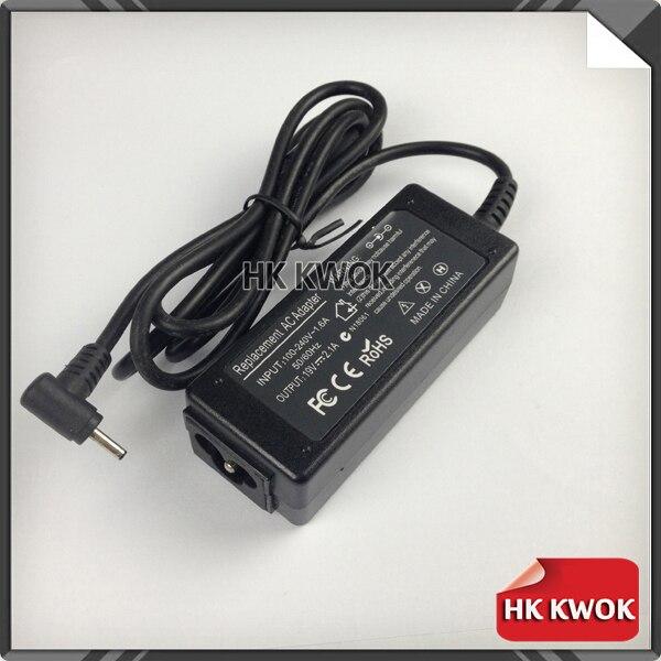 Cargador adaptador de CA 10 Uds. 19V 2.1A para asus EE PC 1001HA/P/PX 1005 1008 1201N 1201HA N455 R025C fuente de alimentación portátil