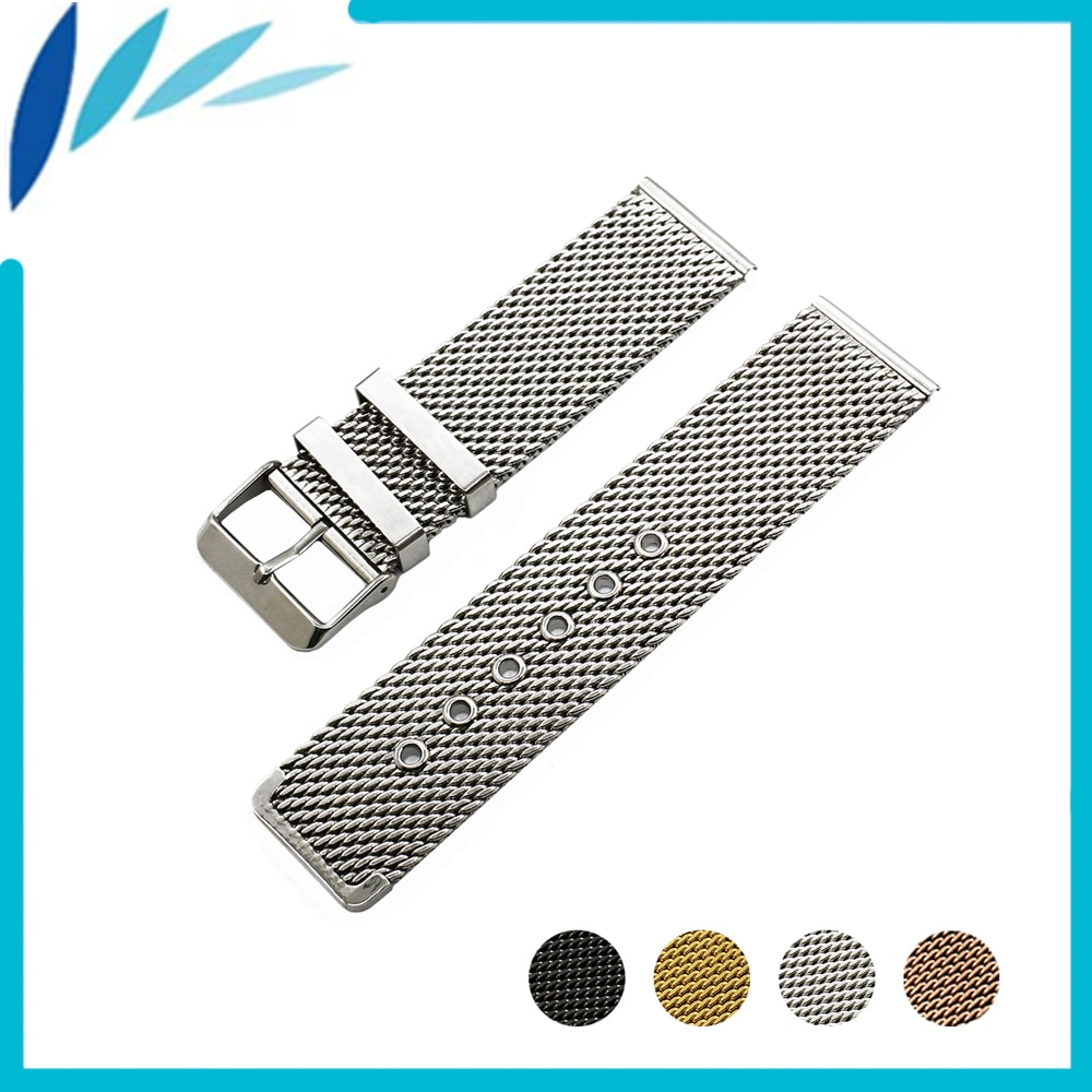 Stainless Steel Watch Band 20mm 22mm for Pebble Time / Round / Steel / Bradley Timepiece Strap Wrist Loop Belt Bracelet + Tool