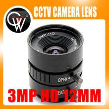 3MP HD 12 мм объектив Ручной 1/2 Ирис Cs крепление промышленный объектив CCTV объектив камеры для HD камеры ip камеры
