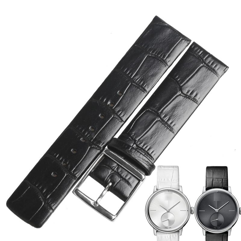 WENTULAHigh-Correa de cuero genuino para reloj, banda de reloj blanca fina para...