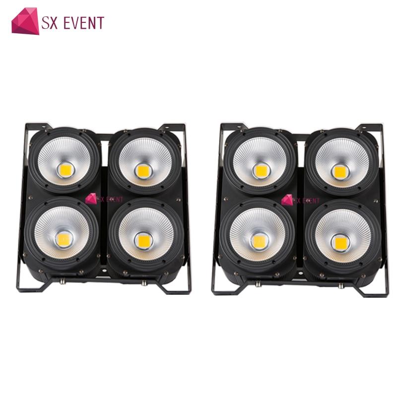 2 шт./лот 4x100 Вт LED Blinder свет для KTV/Дискотека/Домашняя вечеринка/DJ Развлекательное Оборудование dmx контроль