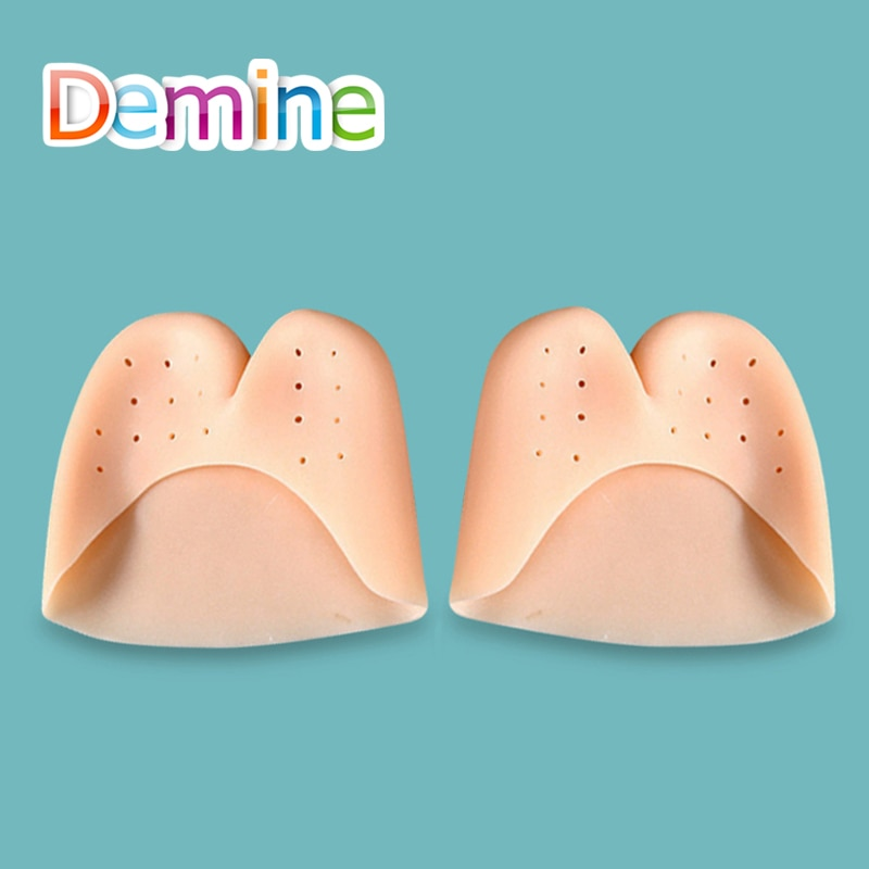 demine silicone hallux valgus orthotics insoles toe separator insole correction cushion forefoot care pad shoe cushion insert Demine Silicone Toe Separator Hallux Valgus Orthotic Insoles Toes Correction Forefoot Cushion Heel Apply to Bunion Inserts Pads