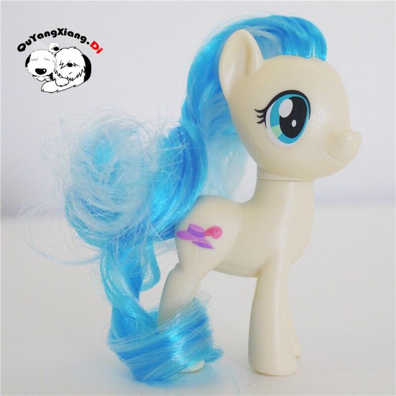 P8-003 figuras de acción 8cm pequeño caballo lindo modelo muñeca nueva Miss Pommel Anime juguetes para niños