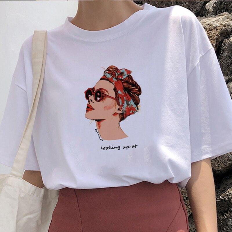 EMIR ROFFER summer new fashion cool printing womens T-shirt summer casual Harajuku O-neck womens T-shirt tops