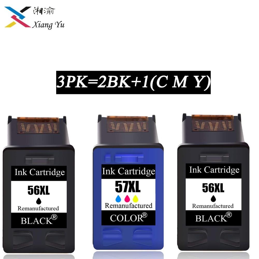 3PK 56XL 57XL llenar cartucho de tinta HP 56 57 para HP Deskjet serie 450CI 5550, 5552, 7150, 7350, 7000, 2100, 2200 2BK1C