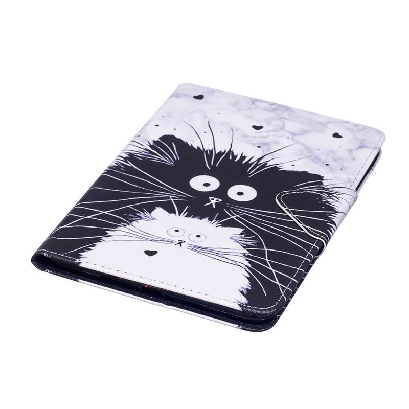Купить с кэшбэком Wekays For Apple Pad IPad Mini 4 Cartoon Cat Leather Flip Funda Case For Coque IPad Mini 4 Tablet Cover Case For Ipad Mini4 Kids