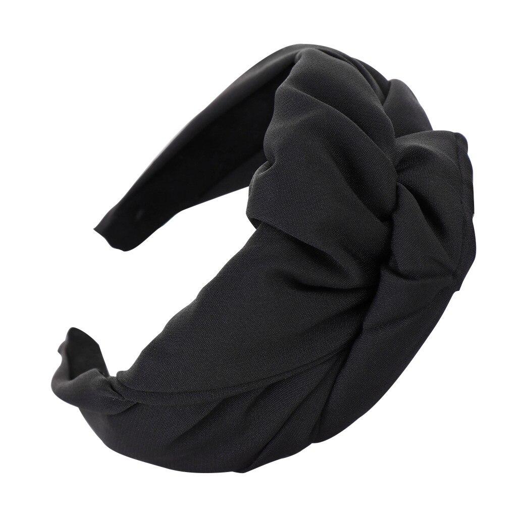 Fashion Bow Knot Headbands Solid Plastic Hairband Women Hair Head Hoop Sweet Girls Hair Headband #BL1