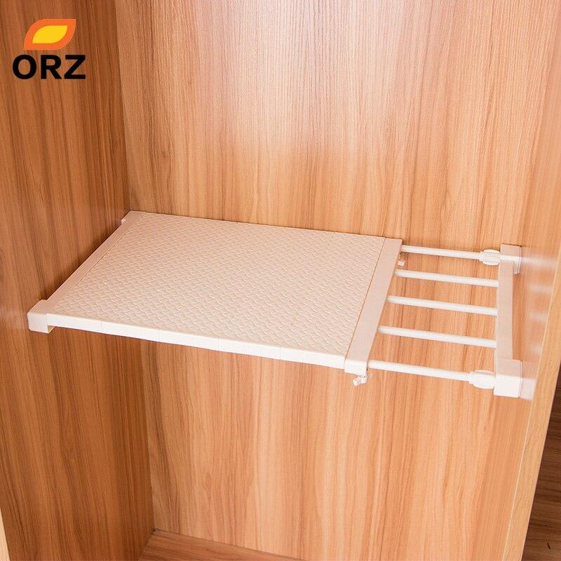Organizador de armario ORZ retráctil, estante ajustable para armario de cocina, soporte de almacenamiento, armario, bandeja de armario, organizador, estante de baño