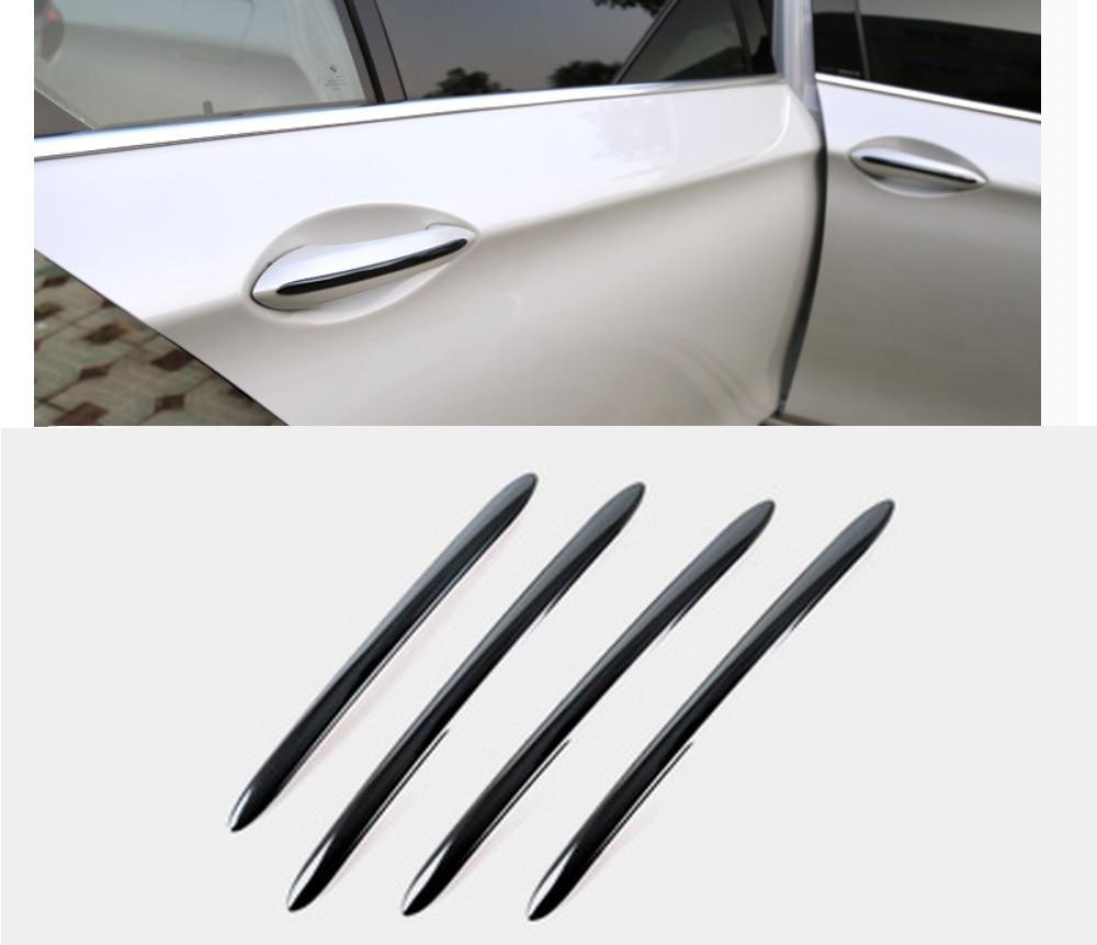 Cubierta de manija de puerta de titanio negro de acero inoxidable, tira de moldura Trim 4 unids/set para BMW 5 Series F10 F18 F11 2011-2017