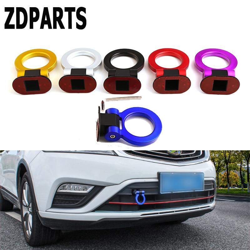 ZDPARTS decoración de coche anzuelos de remolque pegatina de Tow para Hyundai i30 ix35 ix25 Solaris Tucson 2017 Mazda 3 6 cx-5 Subaru