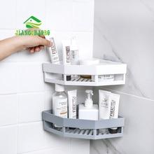 JiangChaoBo Punch-free Corner Shelf Bathroom Wash Rack Bathroom Seamless Wall-mounted Tripod Storage Rack