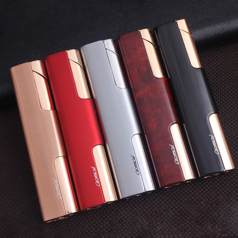 Compact Pipe Lighter Torch Turbo Lighter Strip Windproof Metal Cigar Lighter 1300 C Butane No Gas