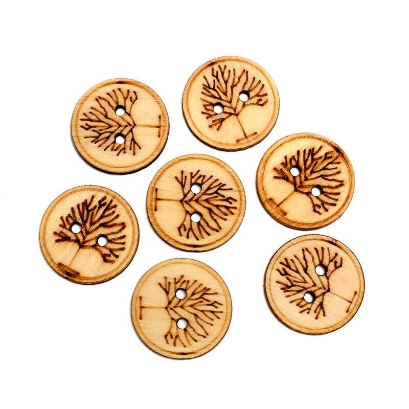 LF 50 Uds. Troncos redondos árboles de madera artesanías 25x25mm adornos MDF madera sin terminar Scrapbooking para decoración artesanal Diy