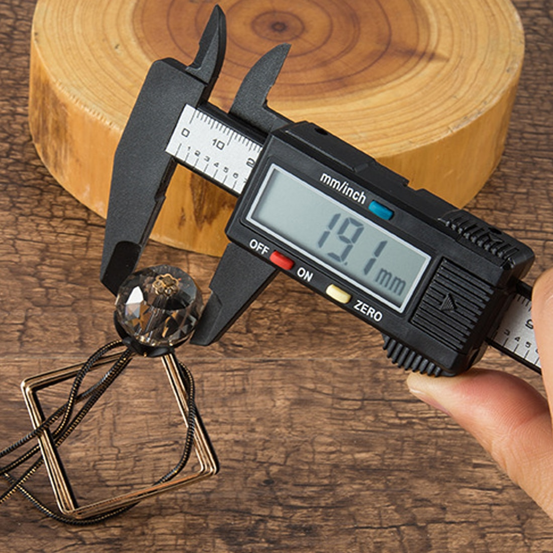 Micrometer Ruler Vernier Caliper Gauge 150mm 6inch LCD Digital Electronic Carbon Fiber Composite Tester