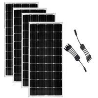 100w 12v Solar Module 4Pcs Solar Photovoltaic Panels 400w Monocrystalline 4 in 1 Connector 12 /24 volt batteries Off Grid RV
