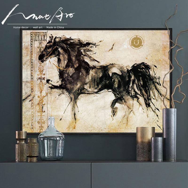 Lienzo de pintura de caballos para el hogar, póster con impresiones de...