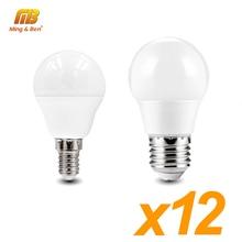 Led 12 Stuks Lamp AC220V 230V Led Lamp E14 E27 Smart Ic Lampada 18W 15W 12W 9W 7W 5W 3W Warm Koud Voor Indoor Tafel Plafond Verlichting
