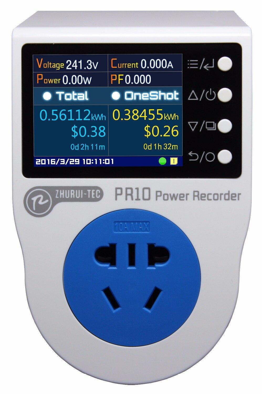 PR10-A AU 10A plug/power recorder/licznik energii/can measure/record/alarm/timing/0.1 ~ 2500w