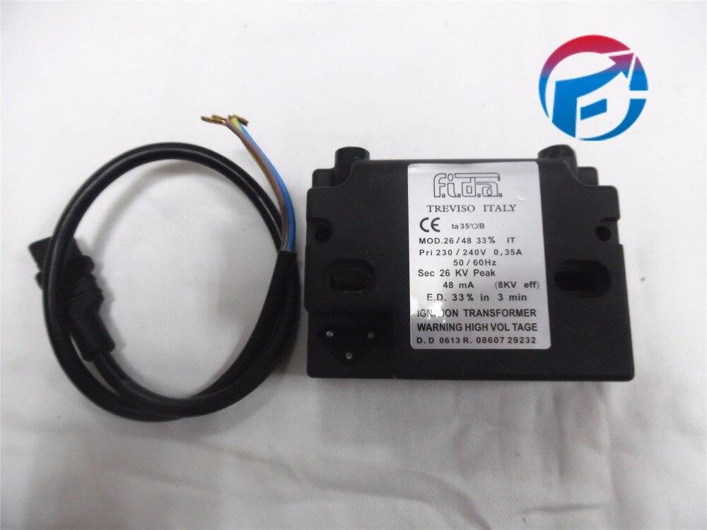 محول إشعال من FIDA طراز MOD.26/48 33% يعمل على الموقد جديد وأصلي محول إشعال من المرجل لفائف إشعال