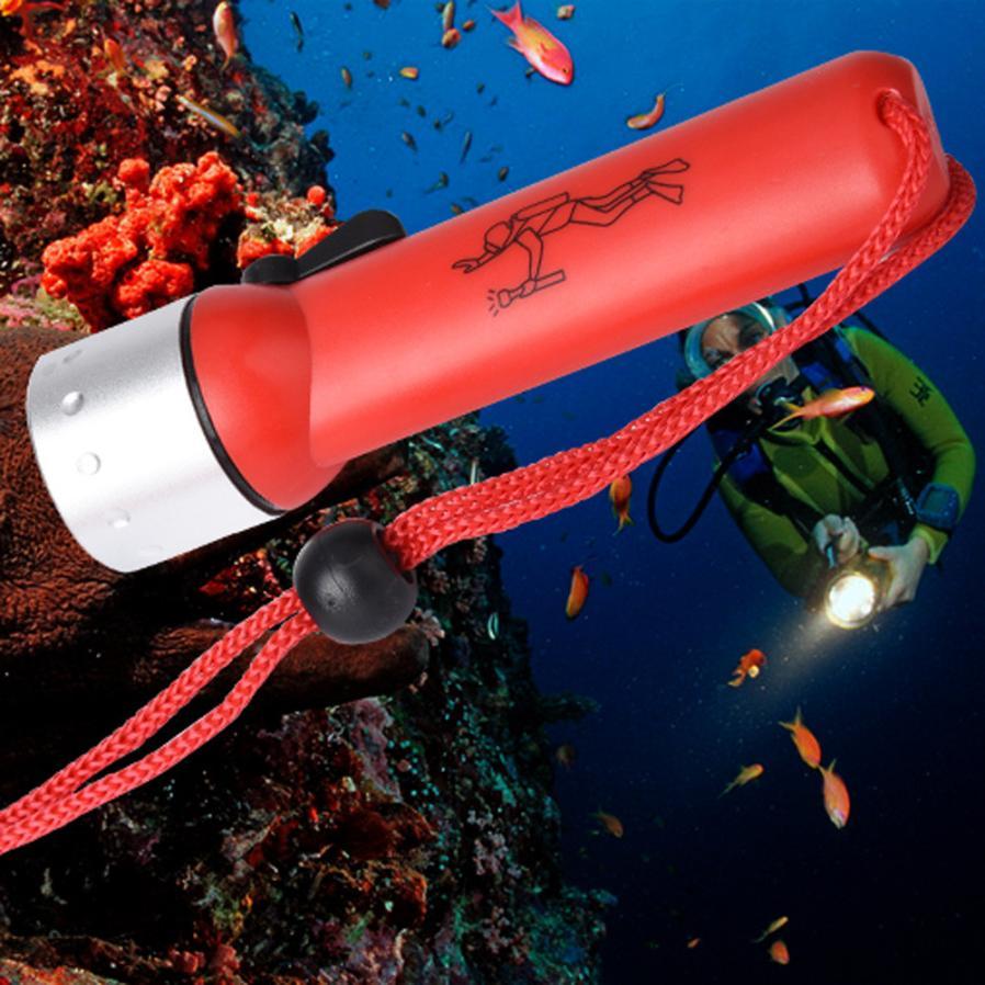 2017 Nuevo subacuático 1200LM CREE XM-L T6 linterna de buceo LED antorcha luz impermeable S98