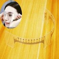 reusable semi permanent eyebrow ruler eye brow measure tool eyebrow guide ruler microblading calliper stencil makeup 20cm