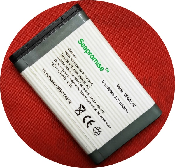Retail mobile phone battery BL-6C BL 6C BL6C for NOKIA QDA+  2110 2125 2855 3152 6012 6015 6152 6165 6235  E70 QD