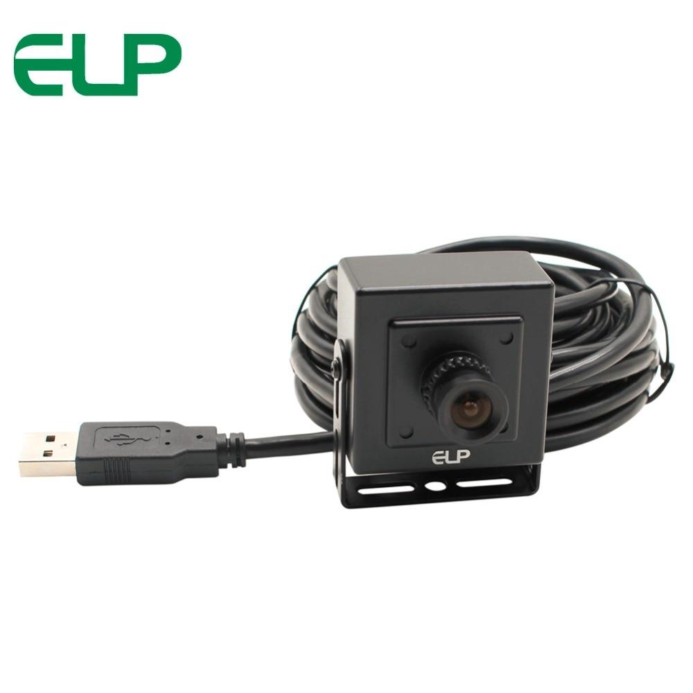 ELP Motorista Livre MI5100 5MP 100 graus Sem Distorção Da Lente Aptina Sensor De Câmera de CCTV Câmera De Vídeo USB Com Carcaça Da Caixa de velocidades