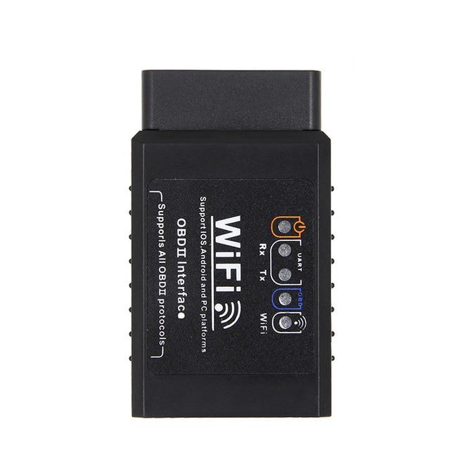Автомобильный диагностический инструмент V1.5 ELM327, WIFI, OBD2, OBDII, адаптер сканера, проверьте светильник двигателя, черный