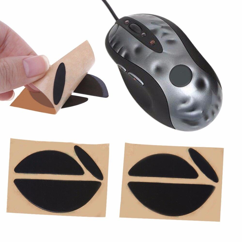 2 Sets/pack negro 0,6mm Mouse Feet ratones patines para Logitech MX518/G400/G400S ratón de buena calidad C26