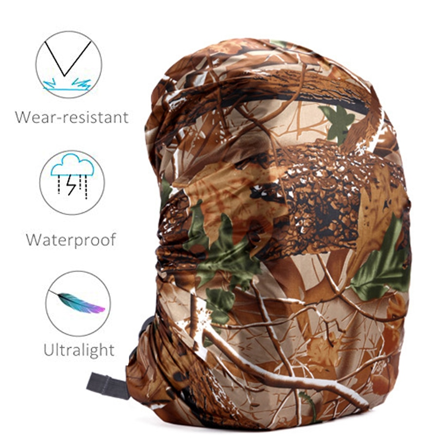 80l Camping mochila impermeable Camo táctico al aire libre Camping senderismo escalada polvo Raincover