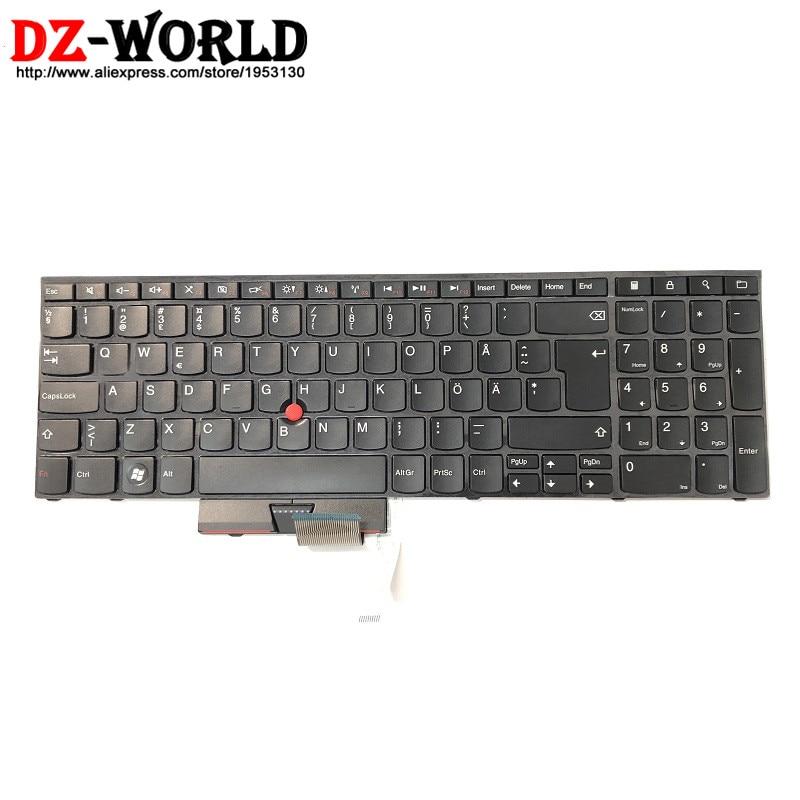 Новый оригинальный для Lenovo Thinkpad E520 E525 шведская финская Клавиатура Teclado 04W0898 0A62101