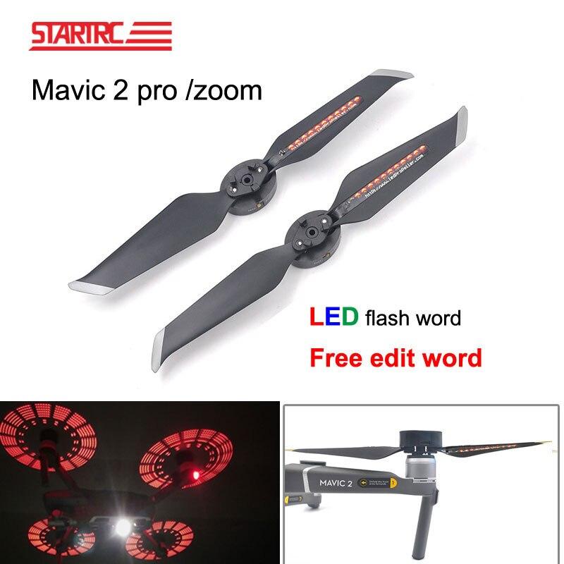 STARTRC DJI Mavic 2 برو LED فلاش كلمة المروحة يمكن للبرمجة نمط مجداف سريعة إفراغ ل DJI Mavic 2 التكبير بدون طيار أجزاء