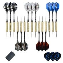 Darts steel dart arrows with metal tip dart flights with brass barrel & aluminum shafts darts set for professionals or beginners