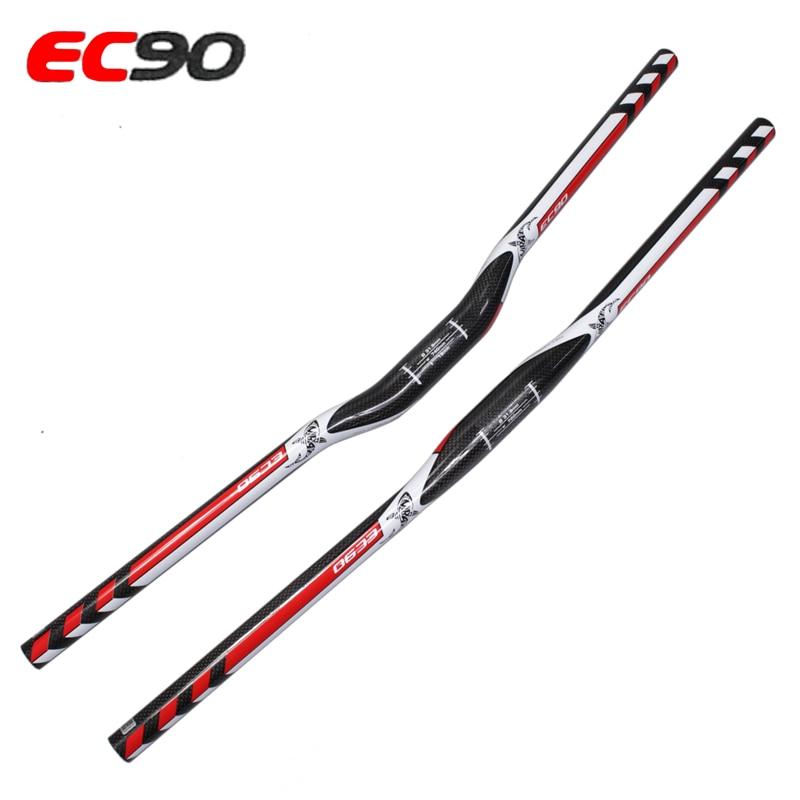 ec90 Carbon Mtb Bike Handlebar Mountain Bike Curve Riser Handlebar Flat Straight Handlebars Bicycle Handle 720-31.8mm