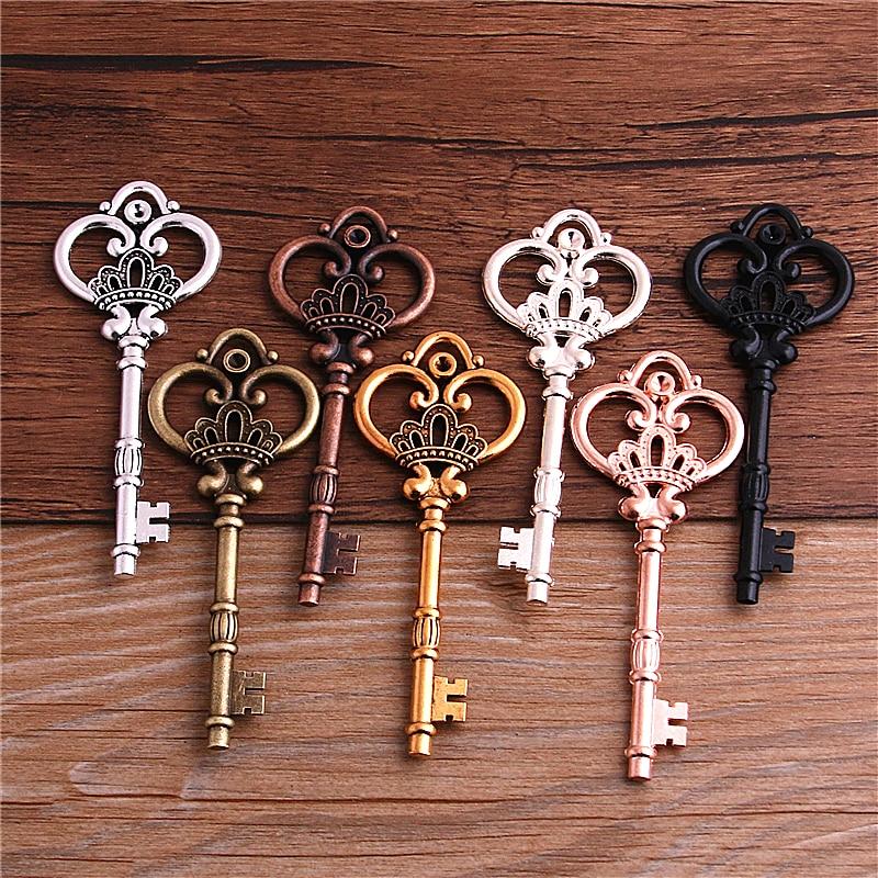 2-шт-7-цветов-металлический-сплав-милые-большие-брелки-для-ключей-с-короной-винтажные-брелки-для-ключей-32-84-мм